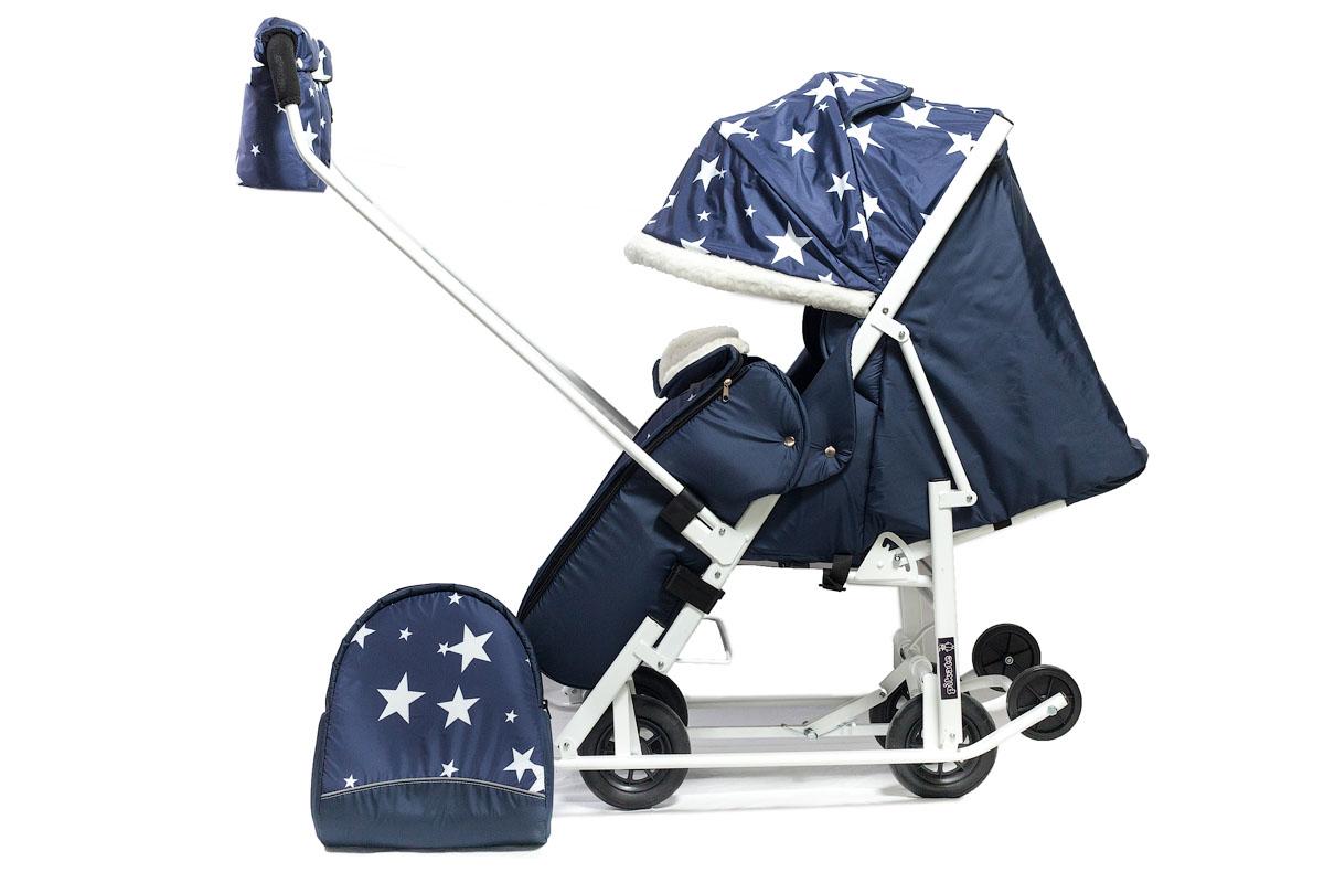 Санки-коляска Picate звезды синий